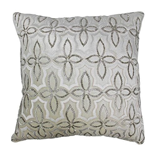 Blazing Needles Moroccan Patterned Beaded Throw Pillow, 20