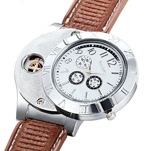 Avaner 2-in-1 Mens Novelty Military Analog Quartz Wrist Watch Rubber Strap with USB Rechargeable Win - http://coolthings.us