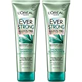 L'Oreal Paris Hair Care EverStrong Thickening Sulfate Free Shampoo & Conditioner Kit, Thickens + Strengthens, For Thin, Fragile Hair, (8.5 fl. oz. each)