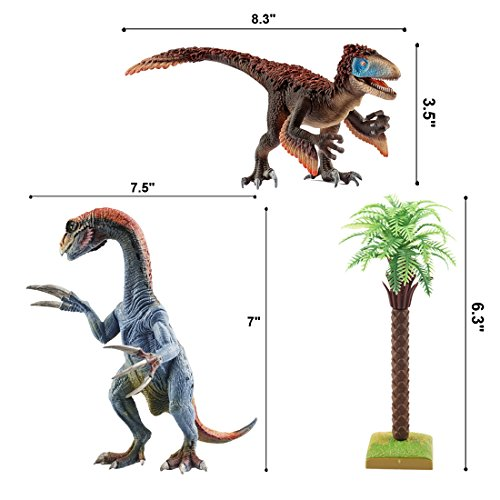 Kids Dinosaur Toys, BooTaa Dinosaur World, Large Realistic Looking Dino Action Figure Kit, Gift for 3 4 5 6 Years Old Boys Kids Toddlers, Birthday Party Game Favor,Therizinosaurus Utahraptor,Pack of 3 by BooTaa (Image #6)