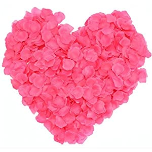1000pcs Silk Rose Petals Artificial Wedding Party Flower Decoration Bridal Shower Aisle Vase Decor Confetti Petals Rose Favors by SamGreatWorld 86