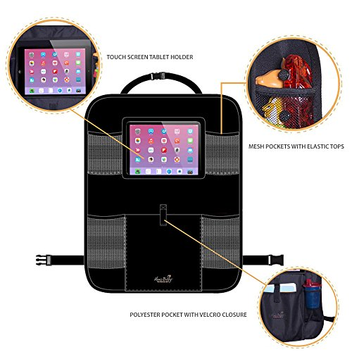 Mom's Besty Car Back Seat Organizer for Kids and Toddlers - Touch Screen Tablet Holder for Android & iOS Tablets - Multipurpose Use as Auto Seat Back Protector, Kick Mat, Car Organizer by Mom's Besty (Image #4)