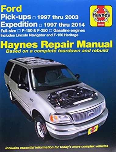 haynes repair manual ford pick ups expedition 1997 thru 1999 rh amazon com 2003 ford f150 factory service manual 2003 f-150 workshop manual