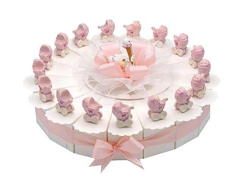 17 de invitados de regalos de cochecito rosa pastel decoración de mesa con diseño de niña
