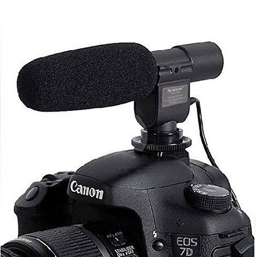 SG-108 Camera Shotgun DV Stereo Microphone for Canon EOS Rebel T5i T4i T3i T2i 700D 600D 550D 70D 60D 6D 5D Mark III Nikon D800 D600 D3200 D5200 D7000 D7100 Pentax K-5 K-7 K10 K20 K100 K200 Contax 645, N1, NX, N Digital SLR Camera (T2i Canon Microphone)