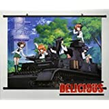 Home Decor Japanese Anime GIRLS und PANZER Poster Wall Scroll Sexy Cosplay 23.6x17.7 Inches -P127012001