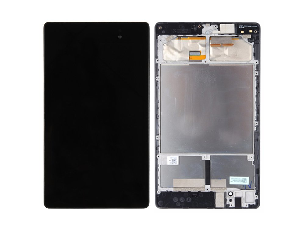Srjtek LCD Screen Frame Assembly for ASUS Google Nexus 7 2nd 2013,Replacement Parts include LCD Display Screen and Touch Screen Digitizer for ME571 ME571K ME571KL K008 K009 (3G)