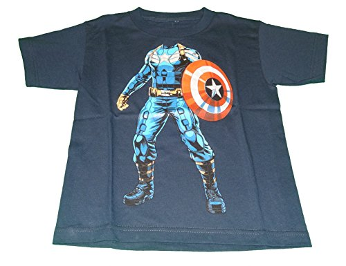 [Captain America Winter Soldier Uniform Boys T-Shirt Tee (Medium, 8)] (Captain America Uniform)