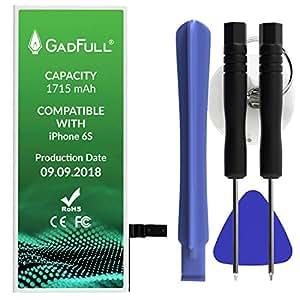 GadFull Batería para iPhone 6S con Herramientas   Fecha de fabricación del 2018   Incluye Kit de Herramientas Profesional de reparación Manual   Funciona con Todos los APN Originales