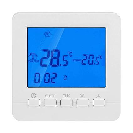 Wi-Fi Termostato programable inteligente 16A Pantalla LCD digital Controlador de temperatura de calefacción HY02B05