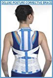 Prolineonline Deluxe Posture Brace & Back Lumbar Support Combined Size = Large