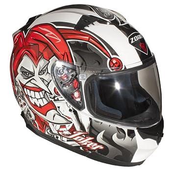 Zoan Blade Sv Joker Full Face calle Moto equitación casco w/visera XS