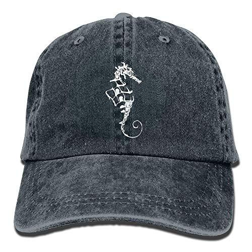 Console Clothes Washer (Seahorses Animal Baseball Cap for Men/Women Adjustable Plain Denim Dad Hats)