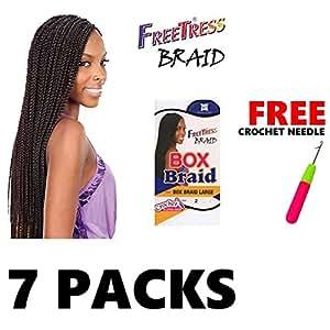 Amazon.com : 7 Large FreeTress Box Braids Shake-N-Go ...