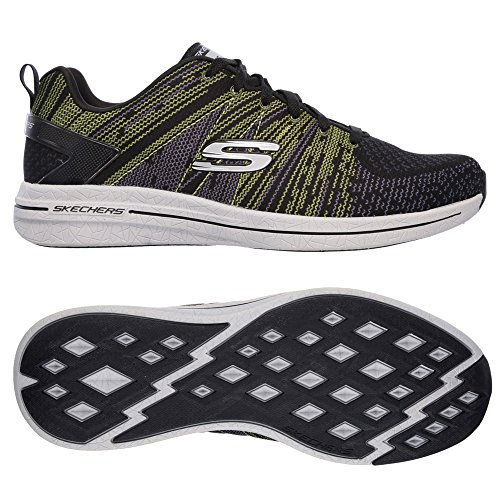 Skechers Men's Burst 2.0 In The Mix II Running Shoes (10 D(M) US, BLACK/LIME)