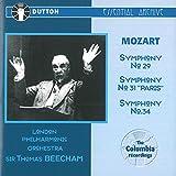 Mozart: Symphonies Nos 29, 31 & 34