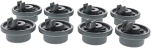 12004485 Dishwasher Lower Rack Wheel Replacement, Fit for Bosch and Kenmore Dishwasher (Pack of 8)