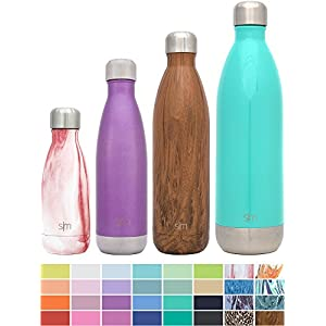 Simple Modern Stainless Steel Vacuum Insulated Double-Walled Wave Bottle, 17oz - Amethyst Purple - Shimmering Collection
