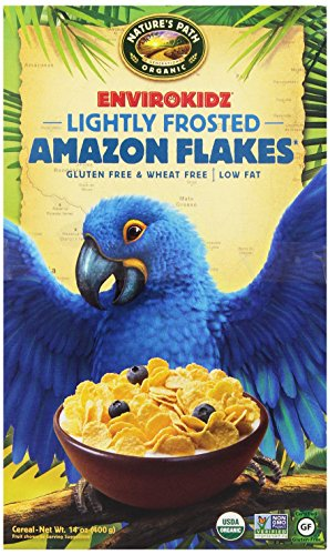 EnvirokidzOrganic Gluten-Free Cereal, Lightly Frosted Amazon Flakes, 14 Ounce Box (Pack of 6)