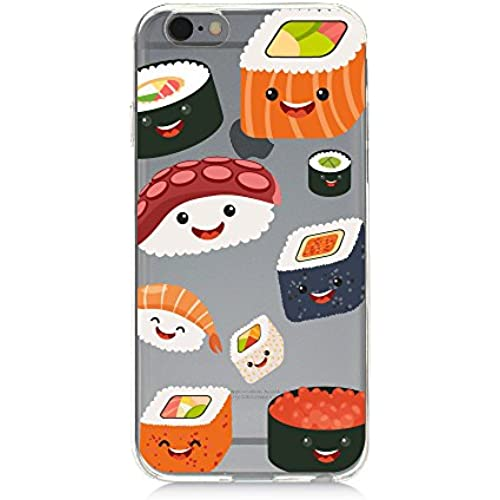 Clear Protective TPU Phone Case Smiley Sushi UV Print Samsung Galaxy s7 Sales