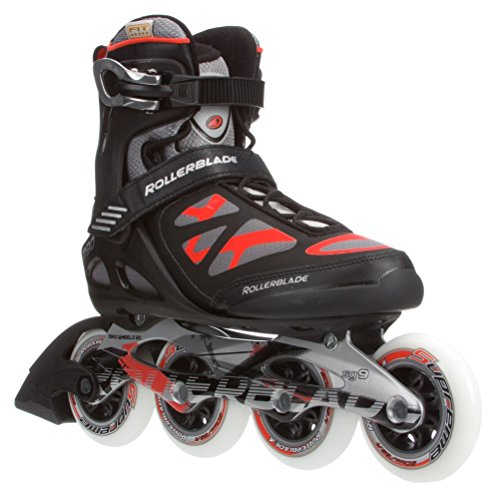 Rollerblade 2015 MACROBLADE 90 High Performance Fitness Skate, Black/Red, US Men 12