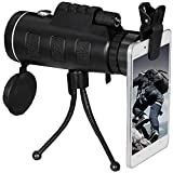 TMTBR 40x60 Dual Focus Monocular Telescope With Tripod ,Compass and phone interface