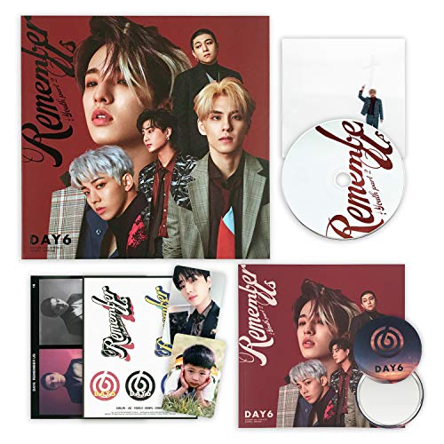 DAY6 4th Mini Album - Remember Us : Youth Part 2 [ FF ver. ] CD + Photobook + Clear Card + Decoration Sticker + Photocard + Postcard + FREE -