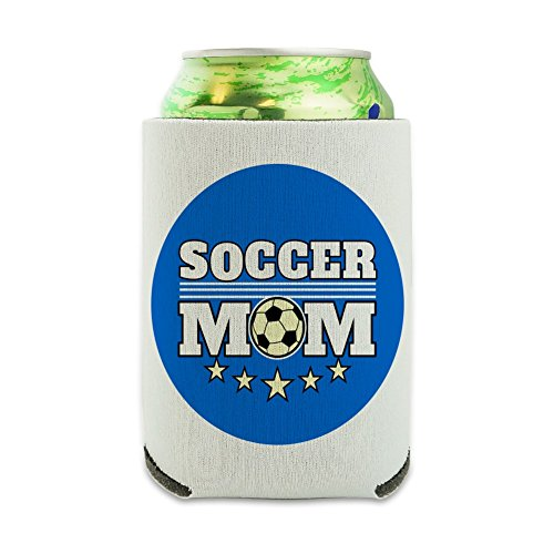 Soccer Mom Mother Sports Can Cooler - Drink Sleeve Hugger Collapsible Insulator - Beverage Insulated Holder