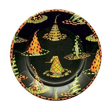 Halloween Plates Halloween Decorations Party Supplies Paper Plates Dessert Size 7.25u0026quot; Witch ...  sc 1 st  Amazon.com & Amazon.com: Halloween Plates Halloween Decorations Party Supplies ...
