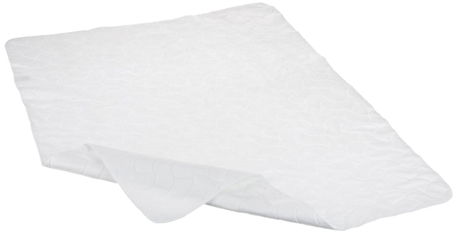 American Baby Company Waterproof Embossed Quilt-Like Multi-Use Flat Protective Mattress Pad cover, White 2858