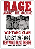 rage against the machine framed - Lee Tee Rage Against The Machine & Wu-Tang Clan Illinois 1997 Gift Poster for Fan Poster Home Art Wall Posters [No Framed]
