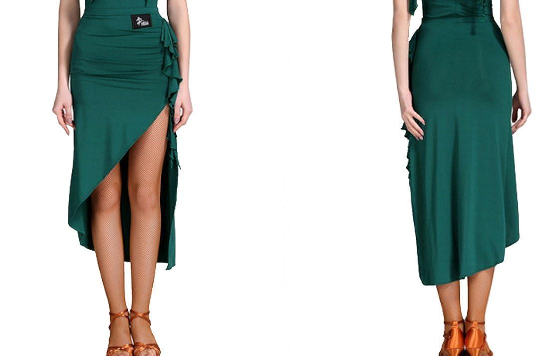 New Latin skirt Lotus leaf skirt Cha Cha skirts Ballroom skirt Tango dress