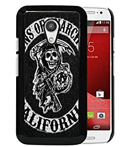 Beautiful Designed Case With Sons of Anarchy Logo Black For Motorola Moto G 2nd Generation Phone Case