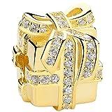Heng Heng - 925 Sterling Silver & Gold Plated Sparkling Surprise Gift Bag