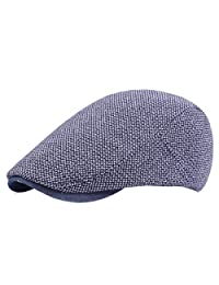 FENICAL Peaked Cap Simple Fashionable Flat Beret Hat for Home Travel Party (Navy)