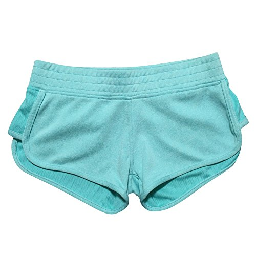 (LETSQK Women's Sexy Yoga Booty Pilates Terry Running Sports Shorts Mint M)