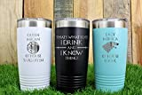 Game Of Thrones Gift Idea - Personalized Vacuum Insulated 20oz Tumbler With Lid- Stainless Steel Mug