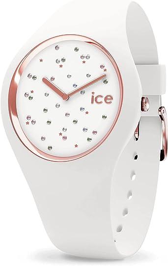 Ice Watch - Montre Ice Cosmos Swarovski Silicone Blanc (016297)