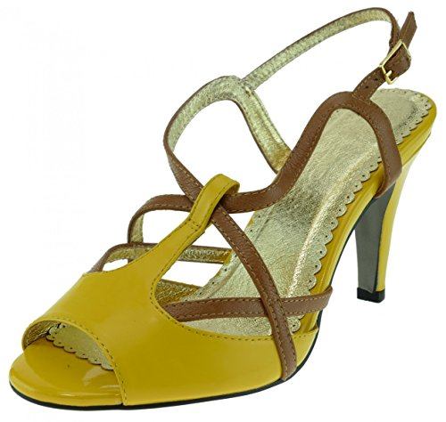 Lise Lindvig Sandalette Isabella Leder gelb Yellow