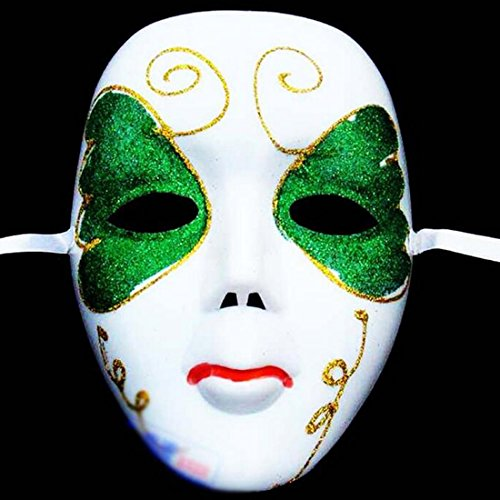 Black Mask - Diy Scary White Face Mask Halloween Masquerade Ball Party Costume Masks Festival Style - Mask Masks Face Costume Carnival White Women Party Masks Face Mask White Full Facial Bo