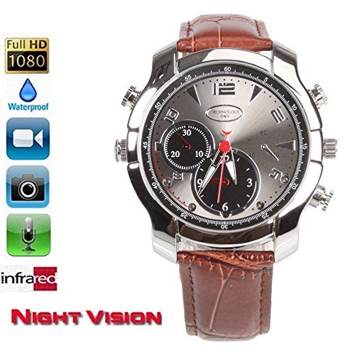 fannuoyi Wrist Smart Watch Camera Full HD 1920x1080P IR Night Vision Mini Camera 16GB Waterproof DVR [並行輸入品]   B07FPYPTGR