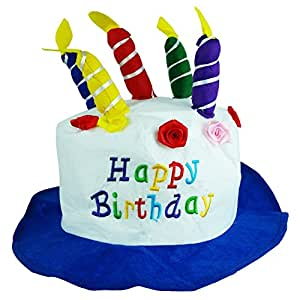 Amazoncom Felt Birthday Hat Cake With Candles Party Hats Unisex By