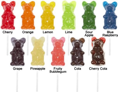 Giant Gummy Bear on a stick, Sour -