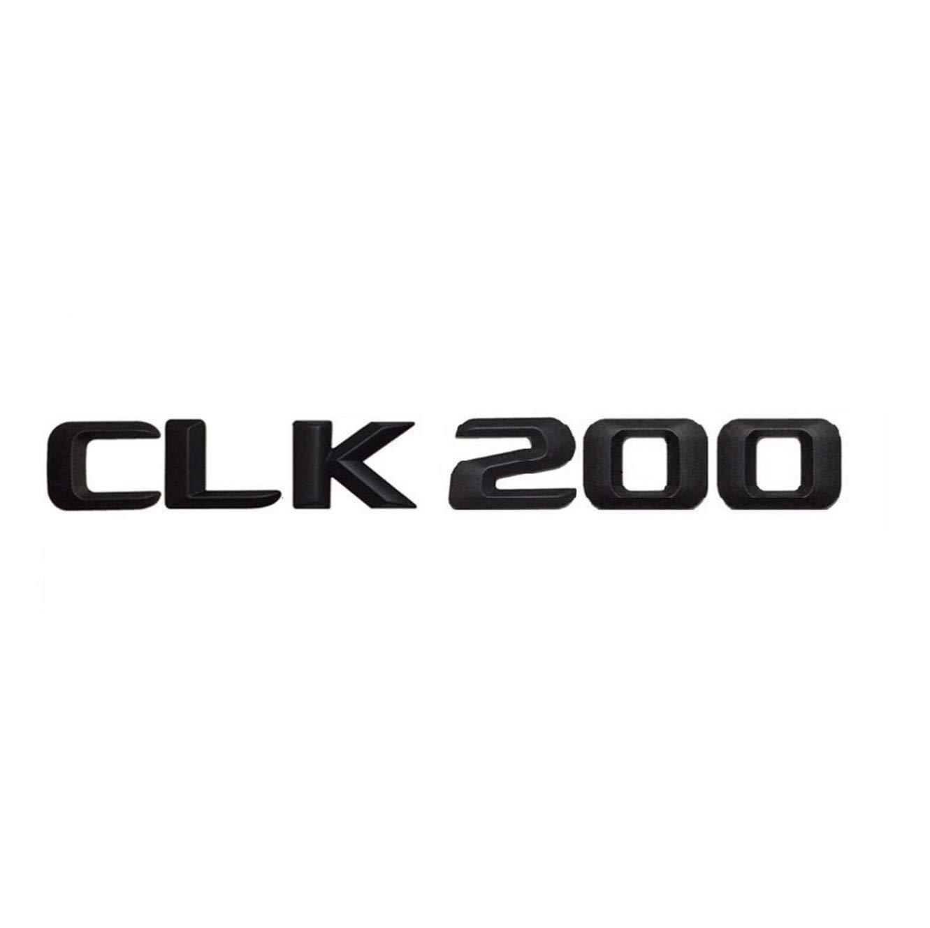 CXYYJGY Noir Mat CLK 200 Coffre de Voiture arri/ère Lettres mot Badge Embl/ème lettre autocollant autocollant CLK classe CLK200
