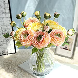 Weiliru Artificial Silk Fake Flowers Small Daisy Rose Wedding Bouquet Party Home Decoration 111