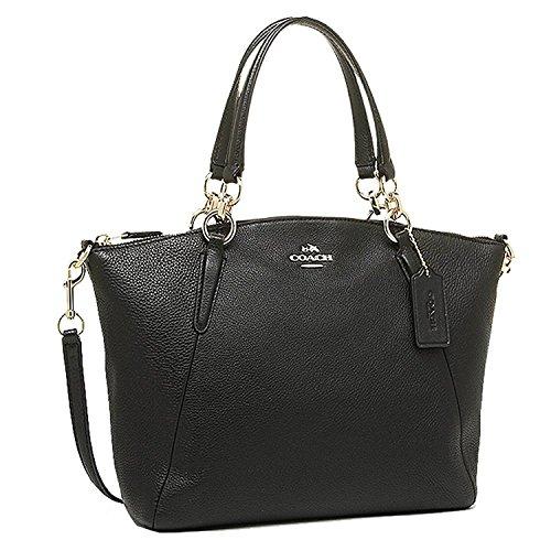 - Coach 36625 Pebble Leather Small Kelsey Satchel Black