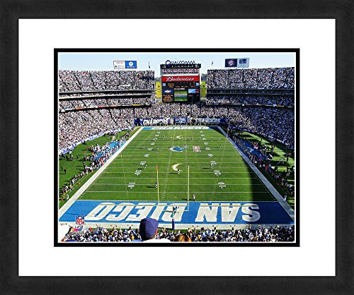 - NFL San Diego Chargers Qualcomm Stadium, Beautifully Framed and Double Matted, 18