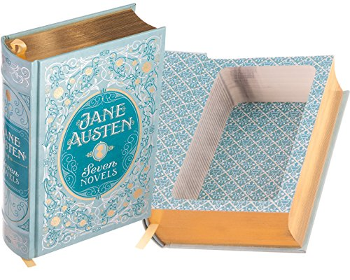 Real Hollow Book Safe - Jane Austen - Seven Novels (Leather-bound) (Magnetic Closure Optional)