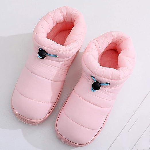 PZXY Zapatillas de Invierno Invierno Saco paño algodón Zapatillas par con Fondo Grueso Impermeable Antideslizante casa algodón Zapatillas Zapatos Calientes de Interior: Amazon.es: Hogar
