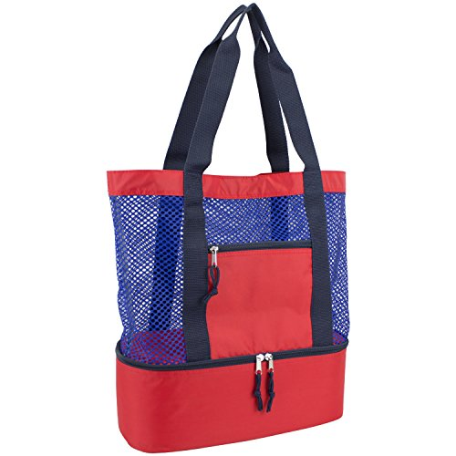 eastsport-mesh-tote-insulated-cooler-beach-bag-navy-red